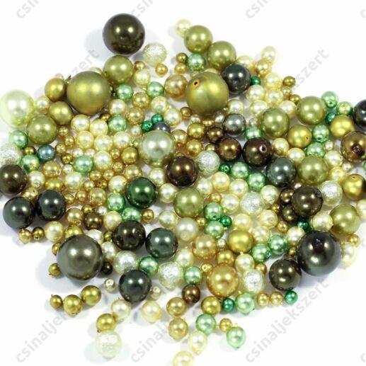Vegyes Zöld színű cseh tekla gyöngy mix