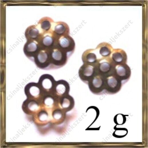 2g Antikkolt bronz daisy gyöngykupak 6 mm