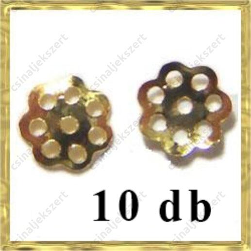 10 db Aranyozott daisy gyöngykpak 8mm