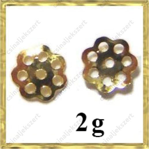 2 g Aranyozott daisy gyöngykupak 6 mm