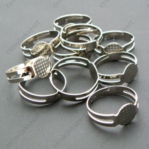 Ródiumos lapkás gyűrű alap