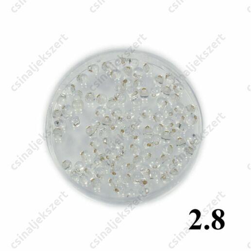 Ezüst közepű kristály / Silver Lined Clear 9001 5g Miyuki csepp gyöngy 2.8 mm