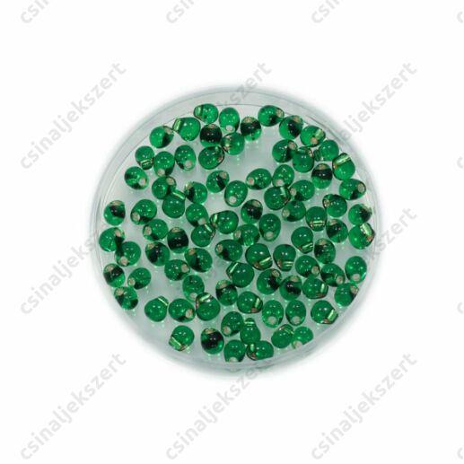 Átlátszó ezüst közepű világos zöld / Silver Lined Light Green 9016 5g Miyuki csepp gyöngy