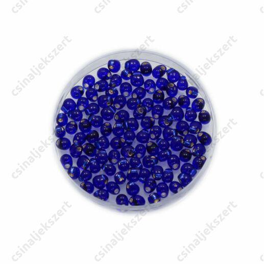 Átlátszó ezüst közepű kobalt kék / Silver Lined Cobalt Blue 9020 5g Miyuki csepp gyöngy