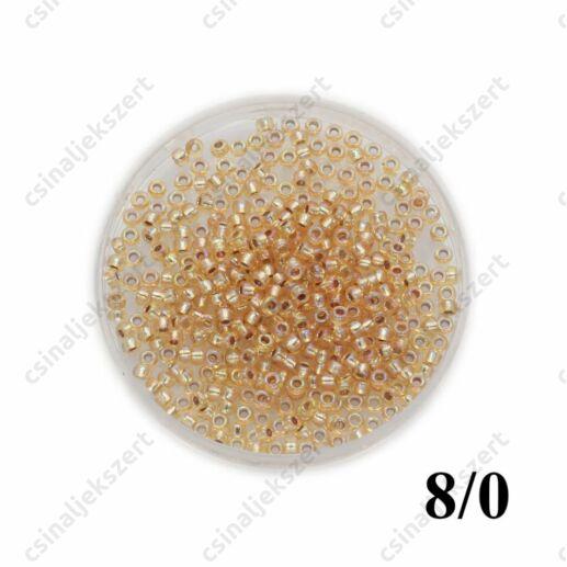 Ezüst közepű arany AB / Silver Lined Gold AB 91003 5g 8/0