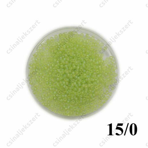 Matt sárgászöld AB / Matte Transparent Chartreuse AB 9143FR 5 g 15/0