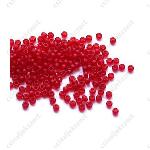 Miyuki kásagyöngy 11/0 Matt átlátszó piros 9141F 5g