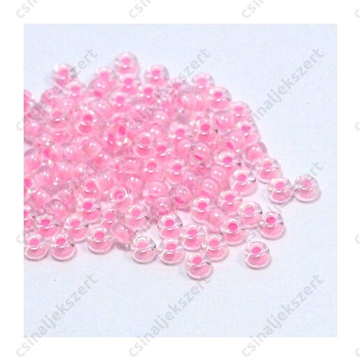 Miyuki kásagyöngy 8/0 Pink közepű kristály 9207 5g