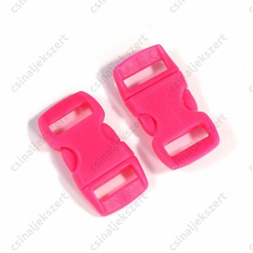 Pink színű 30x15 mm paracord csat kapocs