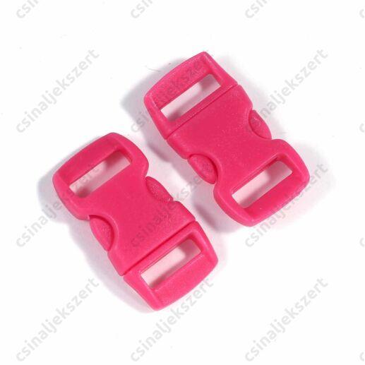 Sötét Rózsaszín színű 30x15 mm paracord csat kapocs