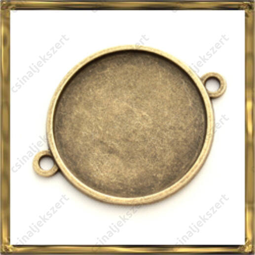 Antikolt bronz színű kapcsoló elem 25 mm NIKKELMENTES