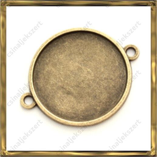 Antikolt bronz színű kerek kapcsoló elem 25 mm