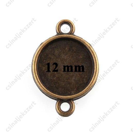 2 db Antikolt bronz színű 12 mm kerek tányéros kapcsoló elem