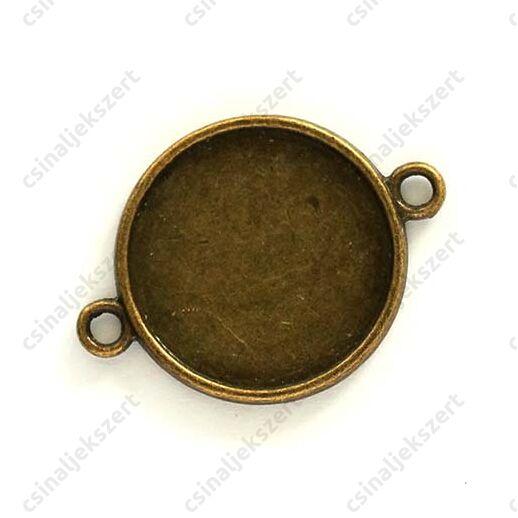 Antikolt bronz színű kerek kapcsoló elem 18 mm