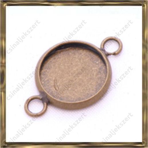 Antikolt bronz színű, réz kerek kapcsoló elem 12 mm