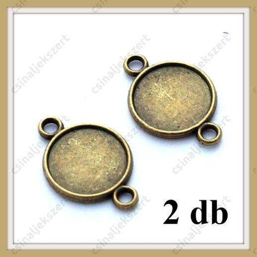 Antikolt bronz színű két oldalas kapcsoló elem 10 mm