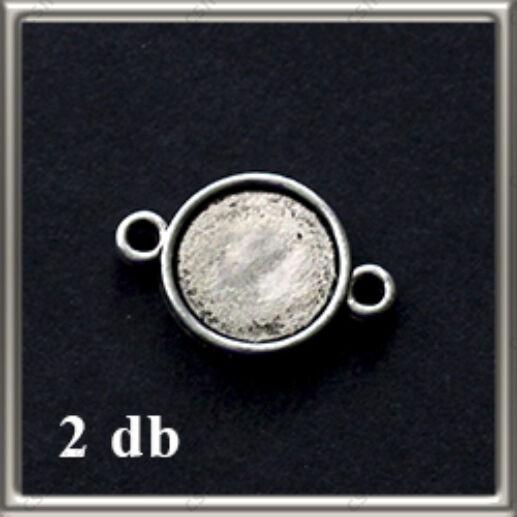 Antikolt ezüst színű két oldalas kapcsoló elem 10 mm NIKKELMENTES