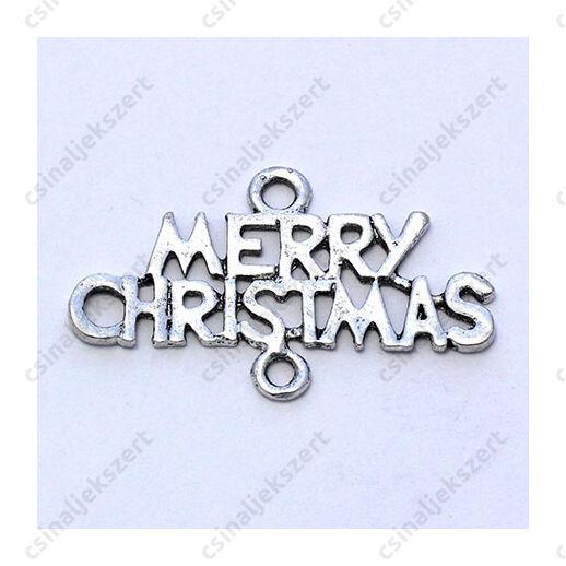Antikolt ezüst színű Merry Christmas kapcsoló elem