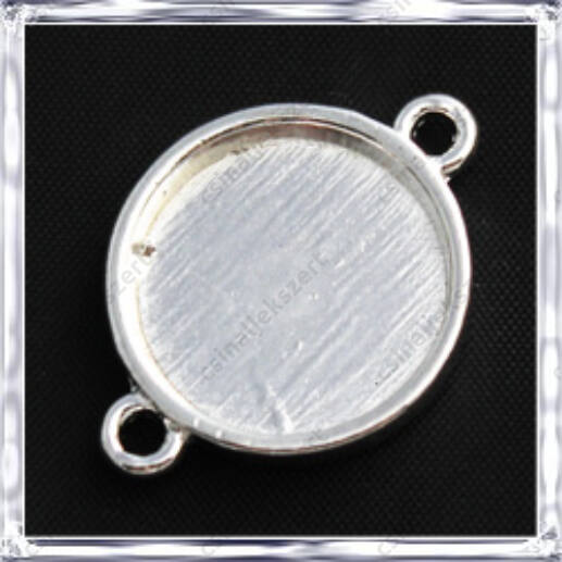 Ezüstözött kerek kapcsoló elem 16 mm