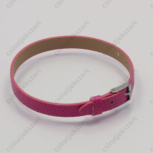 Műbőr karkötő szíj Pink