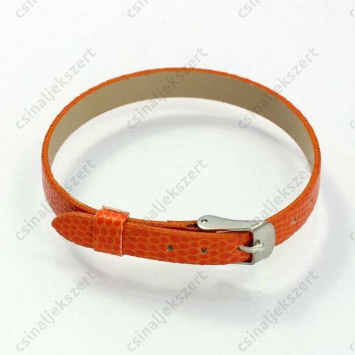 Műbőr karkötő szíj Narancssárga