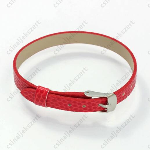 Műbőr karkötő szíj Piros