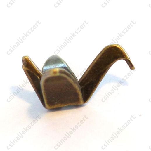 Antikolt bronz színű origami daru köztes, függő dísz