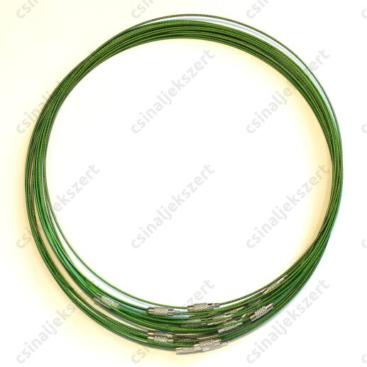 Merev sodrony nyaklánc Zöld
