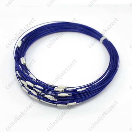 Merev sodrony nyaklánc Kék