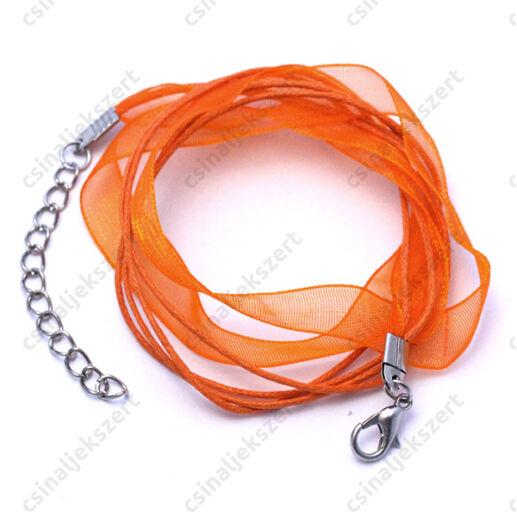 Organza nyaklánc alap Narancssárga