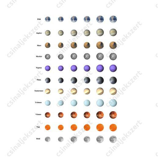 Nyomtatható  mintaív Bolygók