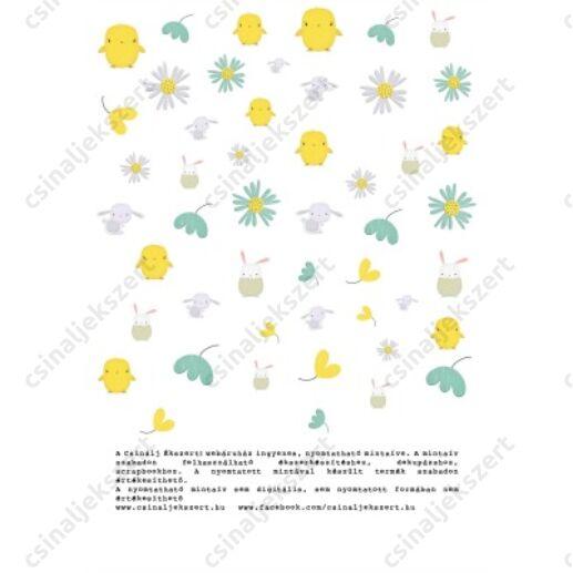 Nyomtatható  mintaív Húsvét - vásárlásod mellé ingyenes