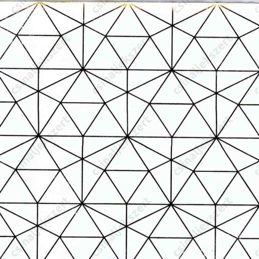 Geometrikus romantika arany fóliás üveglencsés ékszer papír (328)