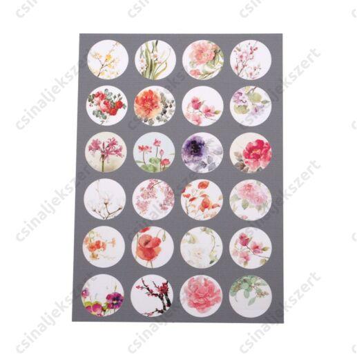 Minta ív vegyes virágok 18 mm