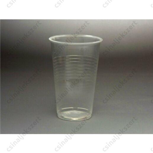 5 db 3 dl-es eldobható műanyag pohár