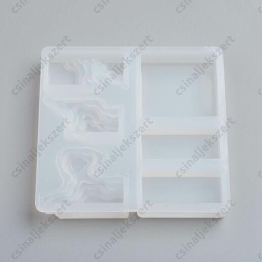 3 részes téglalap-négyzet két rétegű szilikon öntőforma