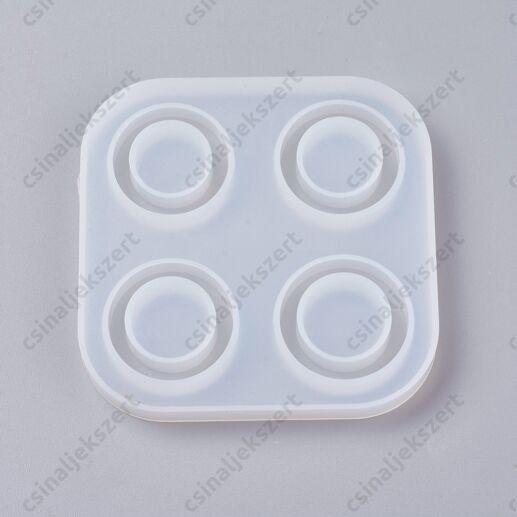 4 részes gyűrű szilikon öntőforma (7-9 méretű)