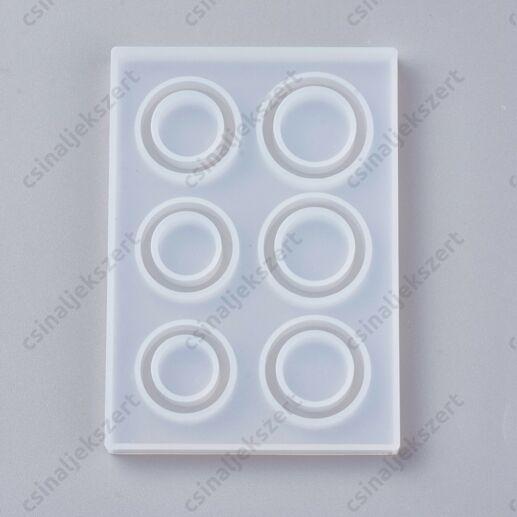 6 részes gyűrű szilikon öntőforma (max. 7)