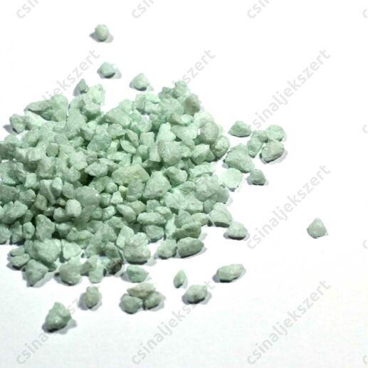 Halvány zöld 3-5 mm apró kavics