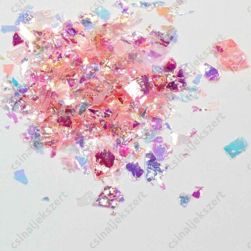 Rózsaszín irizáló pehely
