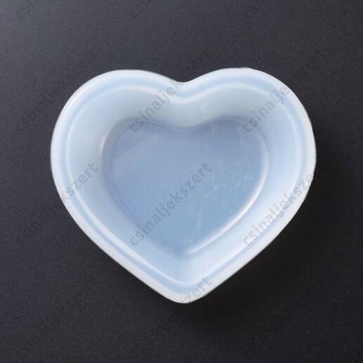 Szív alakú tálka szilikon öntőforma