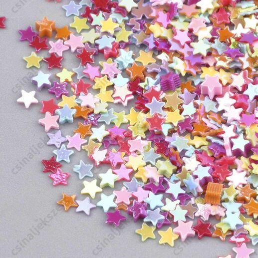 Vegyes tavaszi színű csillag alakú 3 mm szóró flitter