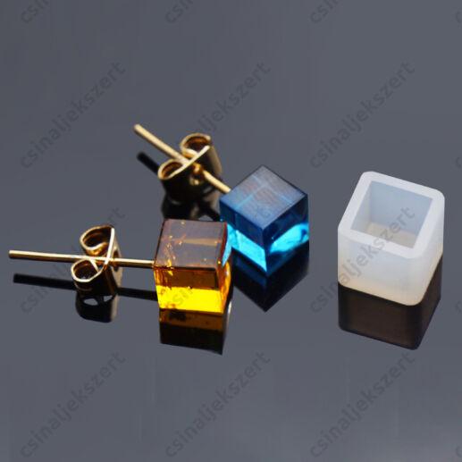 Kocka alakú fülbevaló szilikon öntőforma