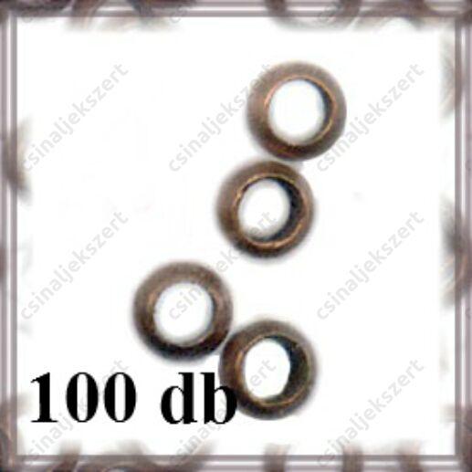100 db Antikolt bronz kerek stopper NIKKELMENTES