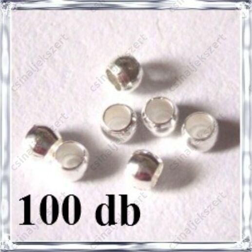 100 db Ródiumos kerek stopper NIKKELMENTES
