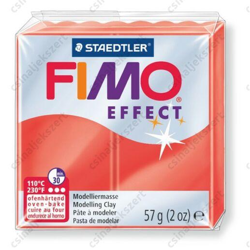Fimo Effect süthető gyurma 56g Áttetsző piros / Transparent red 204