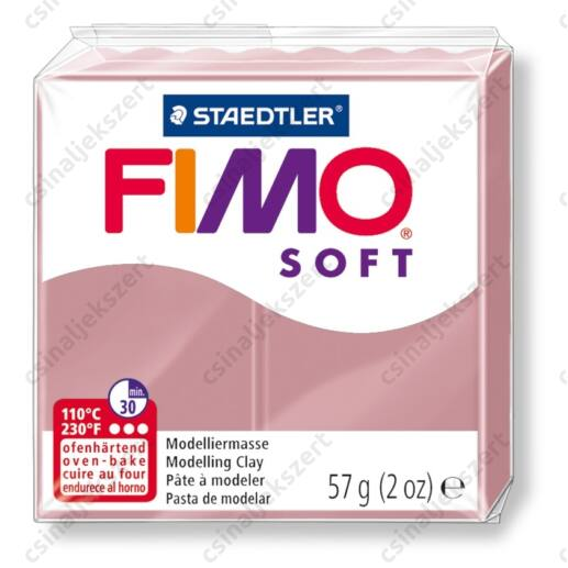 Fimo Soft süthető gyurma 56g Antik rózsa 20