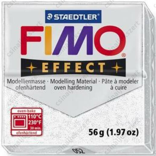 Fimo Effect süthető gyurma 56g Csillámos fehér 052