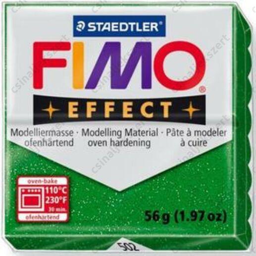 Fimo Effect süthető gyurma 56g Csillámos Zöld 502