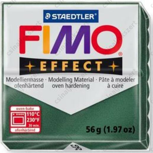 Fimo Effect süthető gyurma 56g Metál Opálzöld 58